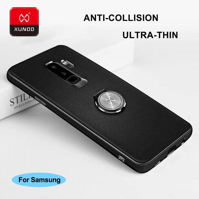 aabd61785 Ultra thin Case For Samsung Galaxy Note8 S9 S8 Plus S7 Edge Phone Ring  Buckle 360 Protective Full Cover Case Magnetic car holder.   