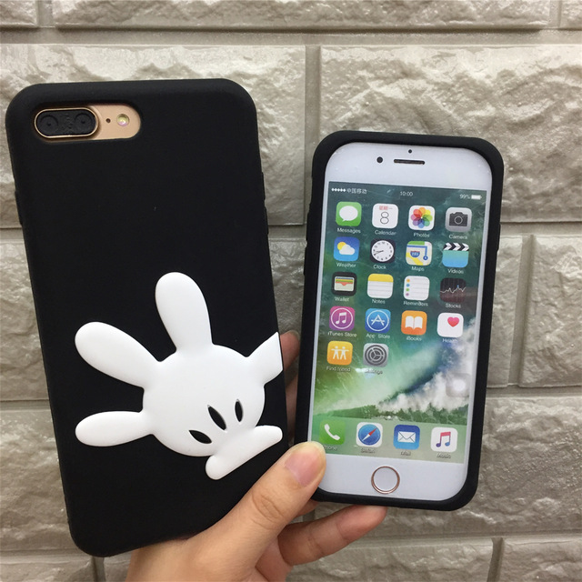 new concept decf5 01227 3D Cartoon Minnie Mickey Mouse iPhone Case for iPhone 6, 6s, 7, 7 plus